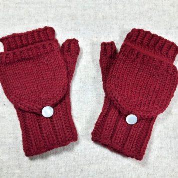 Armstulpen mit Kappe für Kleinkinder Bio, Rubin